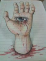 3d hand crying by vioem