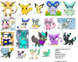 my OCs collection .:read description:. by TailTehEeveelution