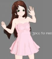 MMD-Pink Gown -DOWNLOAD by MMDFakewings18