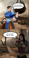 Injustice: Chun li vs Wonder Woman by TheDeadstroke