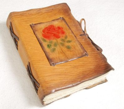 A Rose Journal in yellow by gildbookbinders