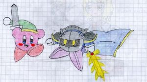 Kirby and Meta knight by maestrox545