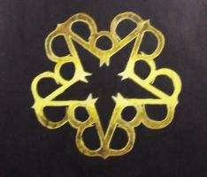 Black Veil Brides Star Logo (painted) by DeathByScreams