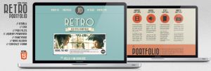 Retro Portfolio - One Page Vintage Template by pacovitiello