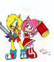 Alex Swift and Amy Rose by Sonicemma
