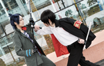 Katekyo Hitman Reborn!: Hibari vs Mukuro by 2greenia