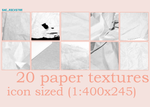 20 Paper Textures 100x100 by she-rockstar