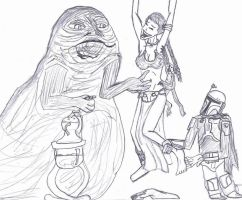 slave Leia's punishment by missbellytickler