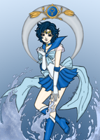 Sailor Mercury Aqua Illusion by blackmoonrose13