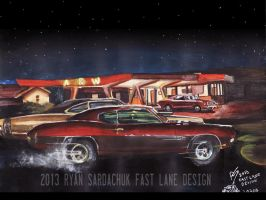The Life Story Of A 1970 Chevy Chevelle (Part 3) by FastLaneIllustration