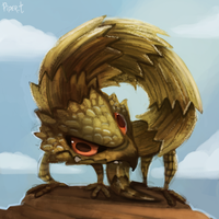 DAY 168. Armadillo Lizard (25 Minutes) by Cryptid-Creations