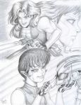 SW GAD 2nd Run - Main Characters (Pencil Only) by YogurthFrost