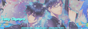 Banner Twins Okumura by Chrome-Asakura