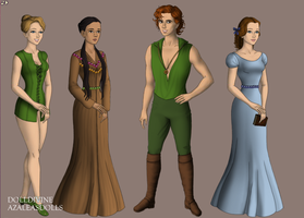 Peter Pan Characters by AnimeDrawerandFan123