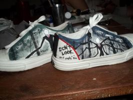 my slenderman shoes ^^ by LadyNakbeen