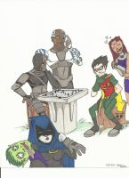 color teen titans by Avatar67