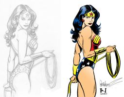 Inking Jose Luis Garcia-Lopez's Wonder Woman by IanJMiller