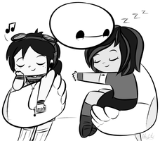 ~With Baymax~ by Starry-Bat1
