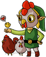 -:Cucco Link:- by the19thGinny
