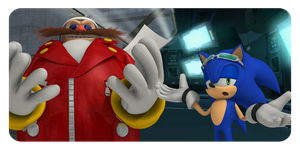 Sonic Vs. Dr. Eggman by Riderssonic123