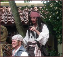 Capt'n Jack on Set at MK by WDWParksGal