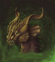 Gold Dragon Mist by WindieDragon