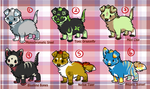 Puppy Cheebs Adoptables!(0/6 CLOSED) by SierratheSharkDoge