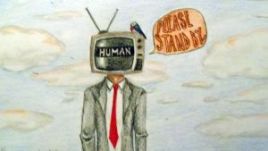 TV Head Man by ImagineArtVibes
