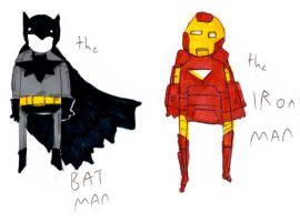 the BAT and IRON MEN by MANeatingCLOTHES