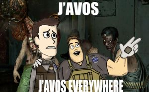 J'avos everywhere Resident Evil 6. by Beelzemon1234