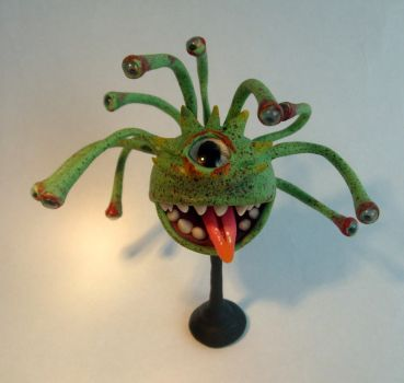 Green Beholder miniature by ComeNozes
