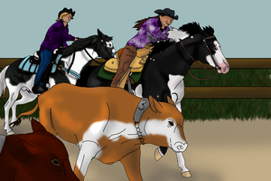 Player and Ka$h at HRs 2012 Western Classic TP by angry-horse-for-life