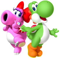 Yoshi and Birdo by Legend-tony980