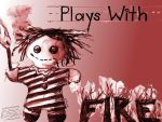 Plays With Fire Wallpaper 1600 x 1200 by marthahull