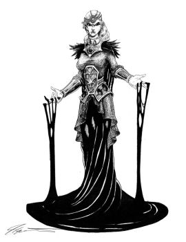 Cleric of the Raven Queen by KingCorvid