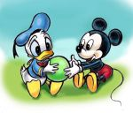 Disney Babies Mickey Mouse and Donald Duck by CuteLittleAnimals