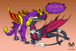 Spyro and Cynder adult - parents future by Naeda