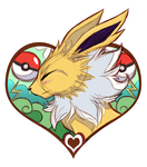 For the Love of Jolteon SKETCH by KasaraWolf