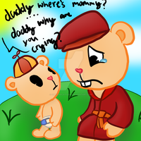 Pop and Cub- Where's Mommy by cupcakecat123123