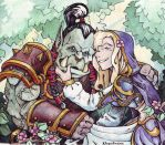 Thrall and Jaina by KarinaKruglova