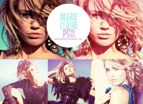 marie claire psd by delicatepetals