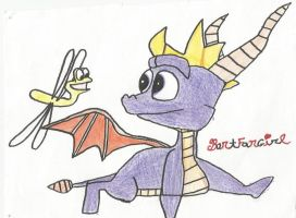 Spyro and Sparx by DrakkenlovesShego12