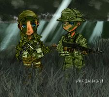 Navy SEALs Chibi in jungle by lazyseal8
