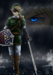 Link in the rain by lepatchi