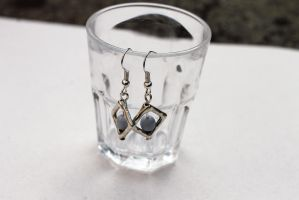 Unique Blue and Silver Earrings by Clerdy