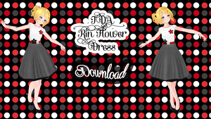 TDA Rin Dress Flower DL by Yuu2002