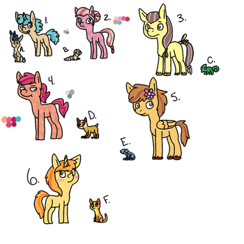 Ponies and Pets Adopts || Open! || On Sale! by KRT-Adopts