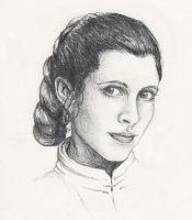 Princess Leia by Raven-Scribbles