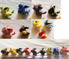 Eeveelutions crafts by M-T-D-G