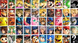 Super Smash Brothers Characters by Orderly-Lemon